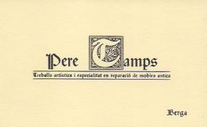 Targeta empresa Pere Camps